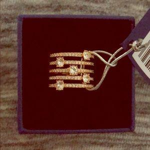 NWT Swarovski Creativity Wise Rose Gold Ring Size6